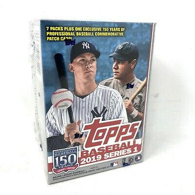 Topps 2019 Baseball Series 1 Trading Cards Relic Box (Retail Edition) FREE SHIP