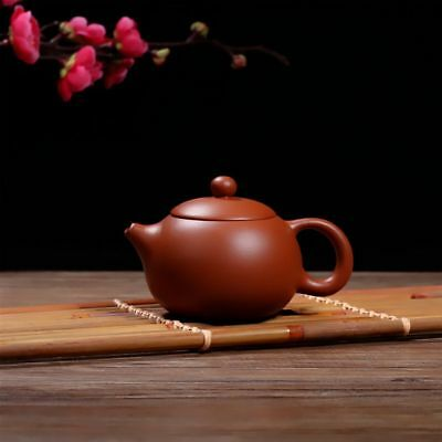 Delicate Chinese Yixing Zisha Purple Sand Carved Flower Teapot
