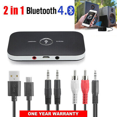 Bluetooth V4 Transmitter & Receiver Wireless A2DP Audio 3.5mm Aux Adapter Hub CA