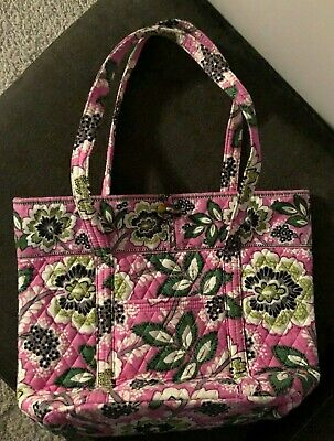 9ed2987092 Vera Bradley Toggle Closure Tote w front zip pocket - Priscilla Pink  (Retired)