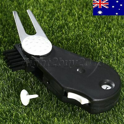 5in1 Multi-tool Golf Ball Marker Divot Tool Score Counter Cleaner Clip AU STOCK