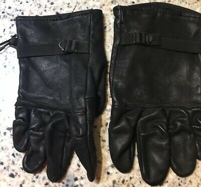 Genuine Leather Gloves / Mens Or Ladies/ Unlined Size 4 / Black/Military School