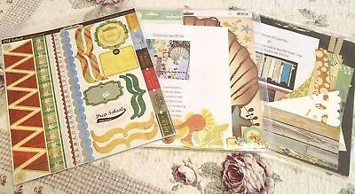 LOT of 3 Assorted Scrapbooking Layout Kits Pre-Cut Embellishments Stickers