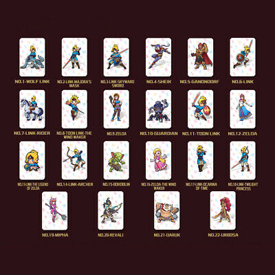 22pcs Set PVC Card The Legend of Zelda: Breath of the Wild Wolf Link For amiibo