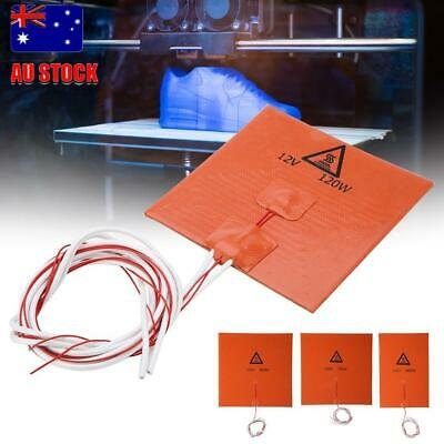 New 12V/220V 120w 3D Printer Heated Bed Heater Pad Silicone Heating Mat Orange