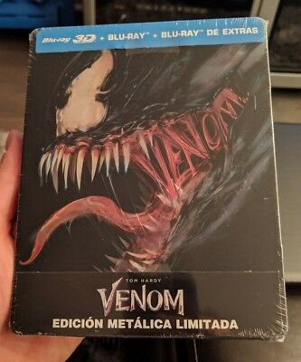 Venom 3D - Limited Edition Steelbook (Blu-ray 2D/3D) BRAND NEW!! MARVEL