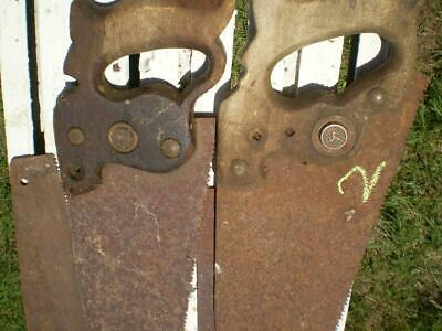 4 Vintage hand saws 3 with timber handles 1 plastic,Diston,tyzack  aprox 72cm #2