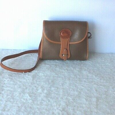 Dooney & Bourke Vintage Duck All Weather Leather Tan/ Brown Shoulder Bag