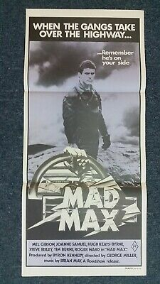 MAD MAX Daybill Original Movie Poster Mel Gibson George Miller