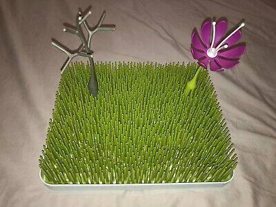 BOON Grass Lawn Bottle Drying Rack Tree And Flower