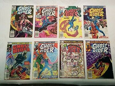 GHOST RIDER Lot of 8 Marvel Comic Books - #71-76, 78, 79!