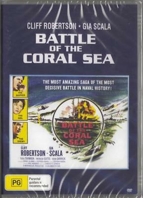 Battle Of The Coral Sea - Cliff Robertson - Dvd  Free Local Post