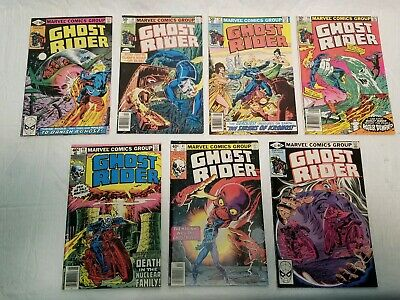 GHOST RIDER Lot of 7 Marvel Comic Books - #40, 41, 44, 45, 51, 52, 59