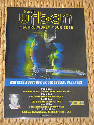 KEITH URBAN - 2016  Ripcord  Australian Laminated Tour Poster - BRAND NEW