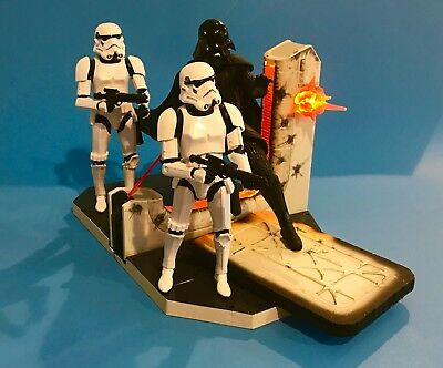 Star Wars Black Series Centerpiece Darth Vader & Stormtroopers Lot 6 In.
