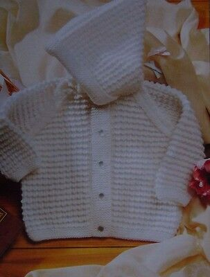 "Baby~ Jackets~With Hood ~Double Knitting Pattern Size 6-12 Months 18-22"" 24E"