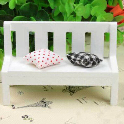 Mini Chair Ornament Wooden Bench Model Garden Craft Photo Props Home Kids Toy Z