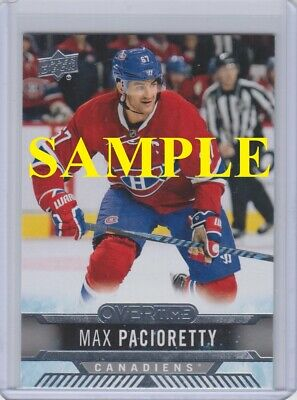 2017-18 Upper Deck Promo Cards (Overtime, Nscc, Expo) - Choose
