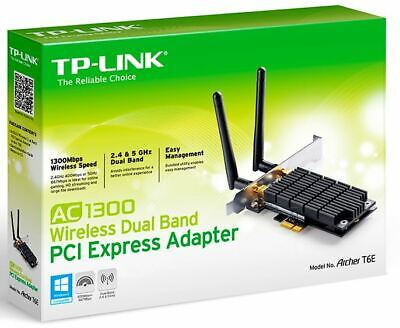 TP-Link Archer T6E AC1300 Wireless Dual Band PCI Express Adapter 1300Mbps 5GH...