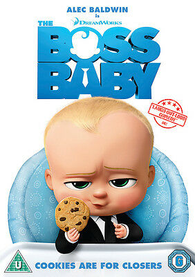 The Boss Baby Dvd Brand New & Factory Sealed