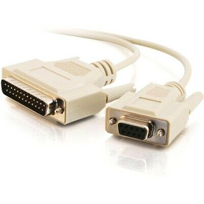 Null Modem Cable 6 ft * 8 Conductor UL rated DB9 F to DB25 M