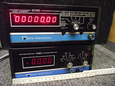 DATA PRECISION Frequency Counter 5740  + Digitalmeter1450 made in USA TESTED OK