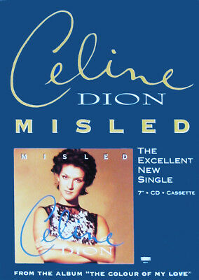 """CELINE DION DISPLAY Misled Rare UK PROMO Only Counterstand 12"""" x 8"""" Standee SALE"""