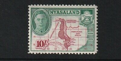GEOVI NYASALAND 45 10/- fresh lmm cat £25
