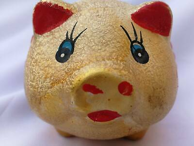 Gold and Red Chiness Lukky Pig Piggy Bank We Wish You Wealth  success saving Box