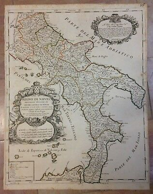 Kingdom Of Napoli 1679 De Rossi-Cantelli Da Vignola Unusual Large Antique Map