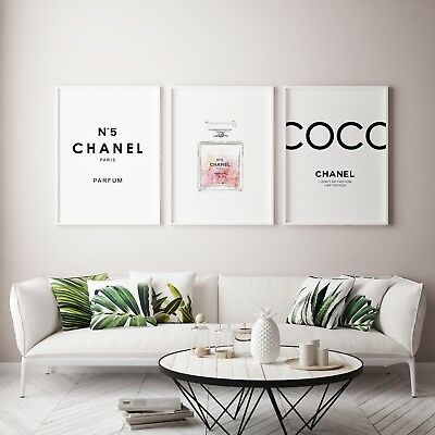 Coco Chanel Print | Chanel Peony |  Chanel number 5 print SET
