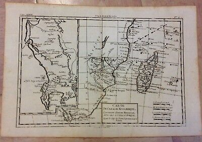South Africa Madagascar Mozambic 1780 By Rigobert Bonne Antique Engraved Map