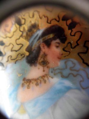 antike handbemalte Porzellan Portrait-snuff bottle-antique handpainted porcelain
