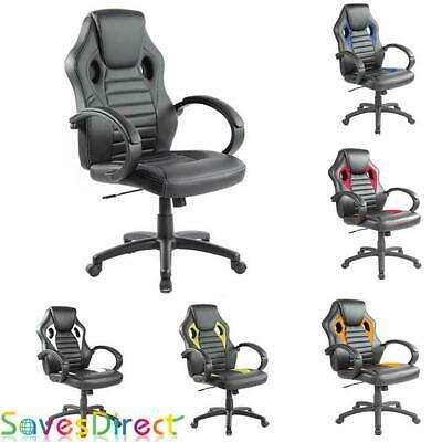 Office Chair Executive Racing Gaming Pu Leather Computer Desk Uk Seller