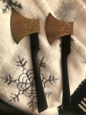Axe Coffin Wood Work The Are Brass And Very Rare 1st To See Will Buy