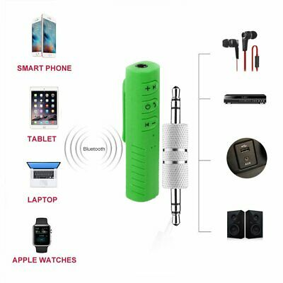 Wireless Bluetooth 3.5mm AUX Audio Stereo Music Home Car Receiver Adapter NEW AZ