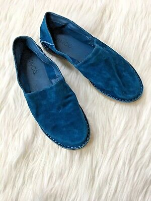 aa20b08d3ae NEW Vince Bray Blue teal Suede Women s Slip On Flats Loafers Size US 6 Shoes