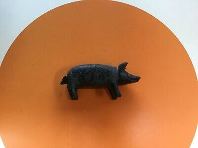Antique Irish Bog oak Killarney Ware Pig