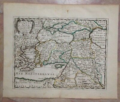 Turkey Black Sea Caspian Sea 1652 Nicolas Sanson Unusual Antique Engraved Map