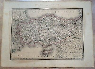 TURKEY CYPRUS by LAPIE DATED 1838 XIXe CENTURY LARGE ANTIQUE ENGRAVED MAP