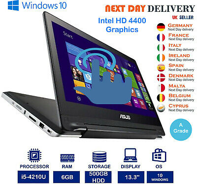 "Asus Transformer Book Flip TP300 13.3"" Touch Laptop Intel i5-4210U 6GB 500GB HDD"