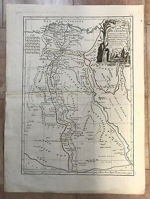 EGYPT DATED 1782 by BONNE LATTRE 18e CENTURY LARGE NICE ANTIQUE ENGRAVED MAP