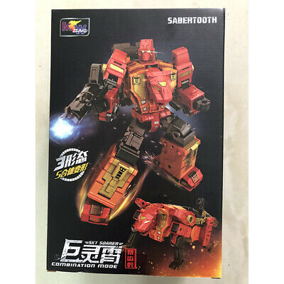 NEW Transformed Weijiang -Sky Soarer Combination mode- Sabertooth  In Stock