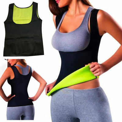 Hot Thermo Sweat Body Shaper Slimming Waist Trainer Cincher Yoga Gym Top Vest