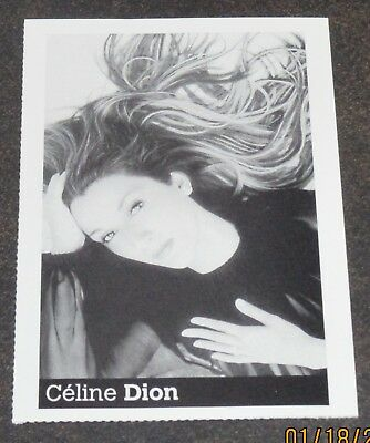 """Celine Dion """"That's the Way It Is"""" Lyrics Card 2000 RARE!"""