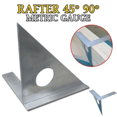 Woodworking Ruler Square Layout Miter Triangle Rafter 45° 90° Metric Gauge Axis