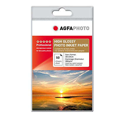 Agfa 10x15cm 260gsm Professional Heavy Weight Glossy Ink Jet Photo Paper (50 She