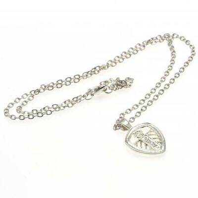 Leeds United FC Official Silver Plated Crest Pendant and Chain