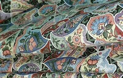 W😊W! FABRIC SALE $4 FULL YARD Cranston Butterfly Wings Blue Rose Quilters Decor