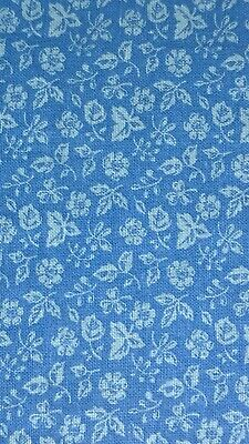 W💙W! FABRIC SALE Only $4 FULL YARD Blue Tonal Cotton Quilts Clothes Sewing Kids